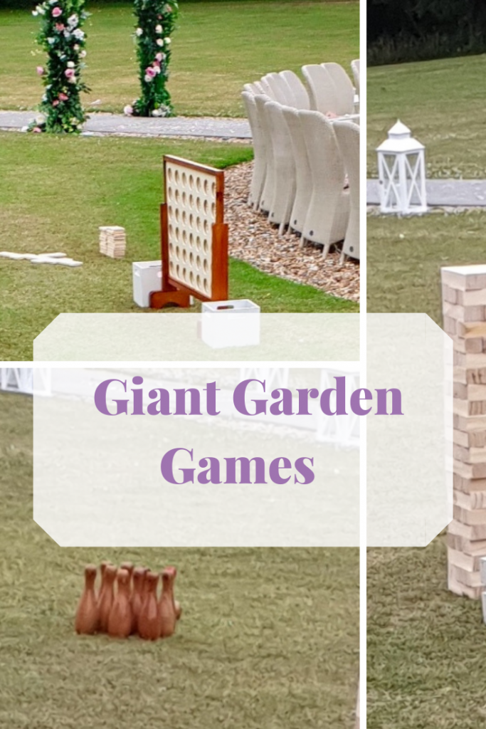 Giant garden games. Large lawn games to entertain your guests. Hire them from Fabulous Functions UK