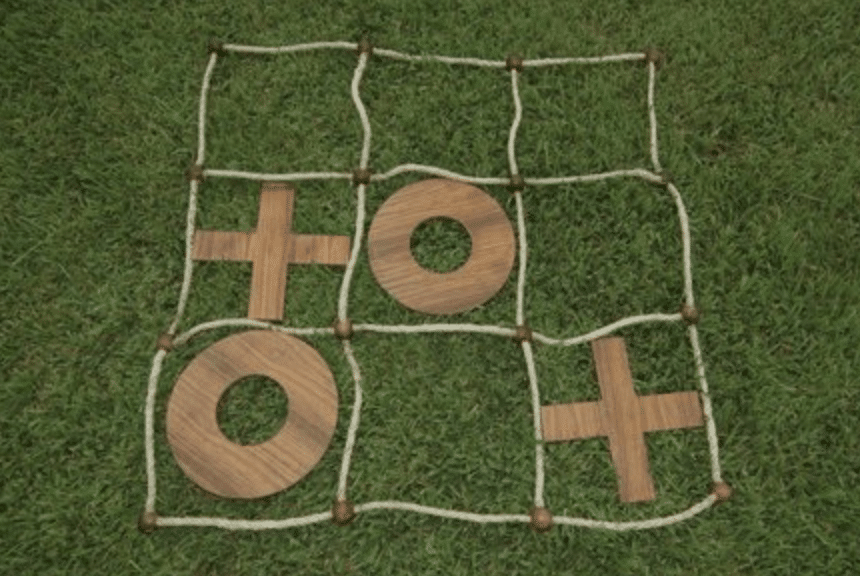 Giant Naughts and Crosses garden games.  Perfect for wedding day fun to entertaining your friends and family.