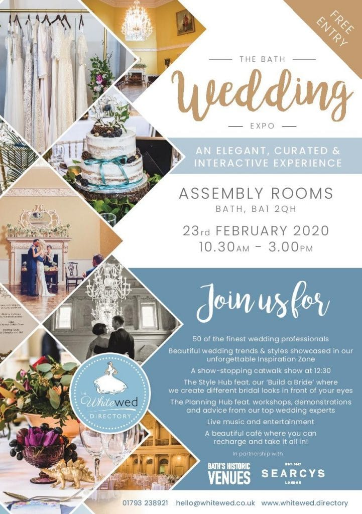 The Bath Assembly Rooms Wedding Expo will feature 50 plus exhibitors and wedding experts.  Do come along, say hello and ask as m any questions as you want.   - Bath wedding expo