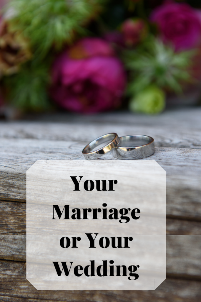 Your marriage or your wedding? Sometimes you have to alter your plans due to circumstances. You. may choose to marry first then hold your celebrations at later date.