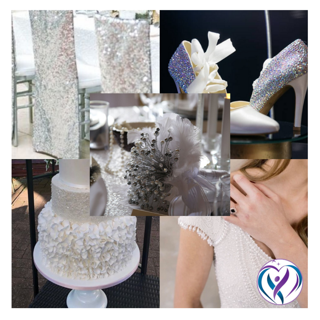 Silver and white wedding decor ideas  from Fabulous Functions UK