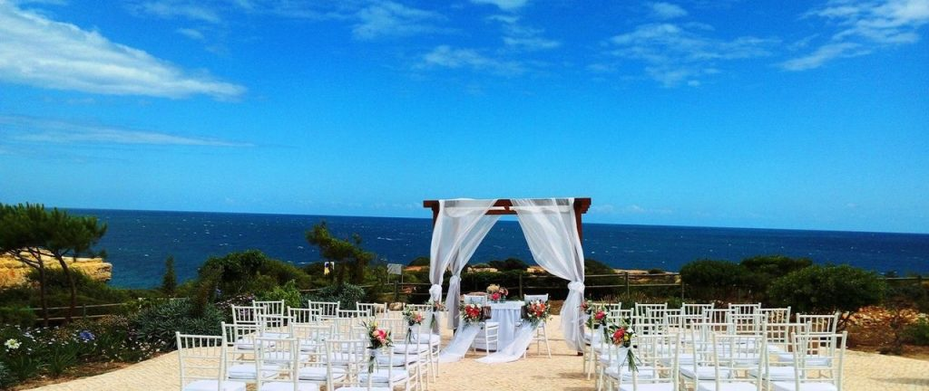 The Suites Alba Hotel has stunning sea views and the perfect location destination wedding