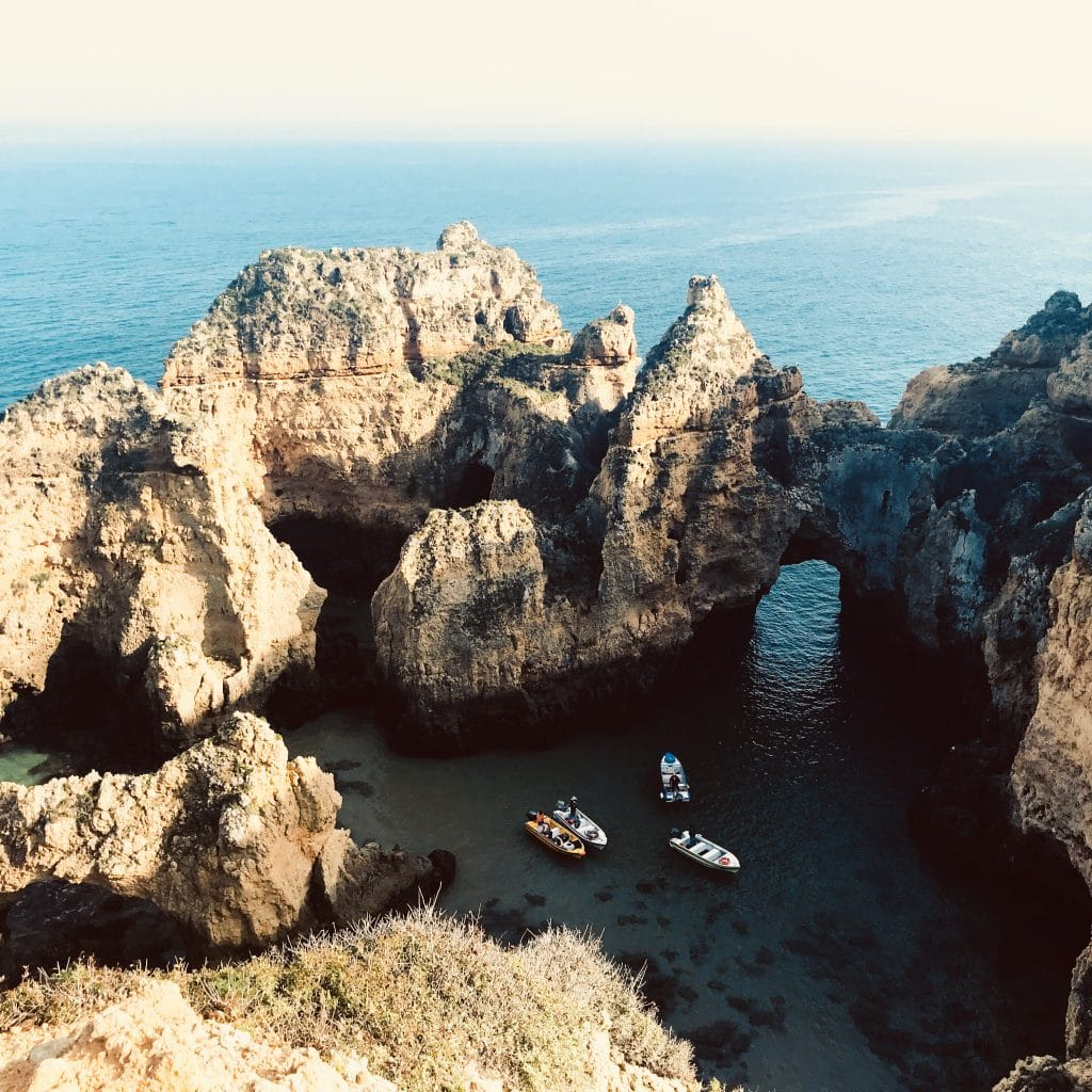 Cliff top views of Ponta da Piedade in Portugal  a gorgeous locations for a destination wedding
