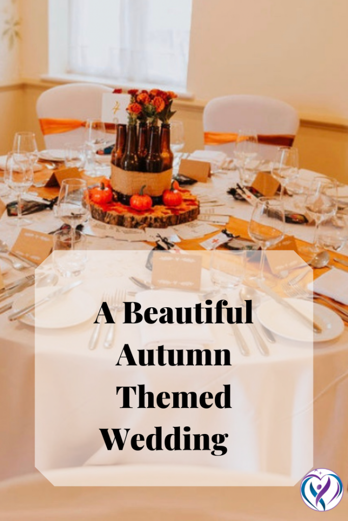 An Autumn Themed Wedding decor chosen by David and Steph  for their spring wedding. Because they love the autumn colours. - Decor created by Fabulous Functions UK