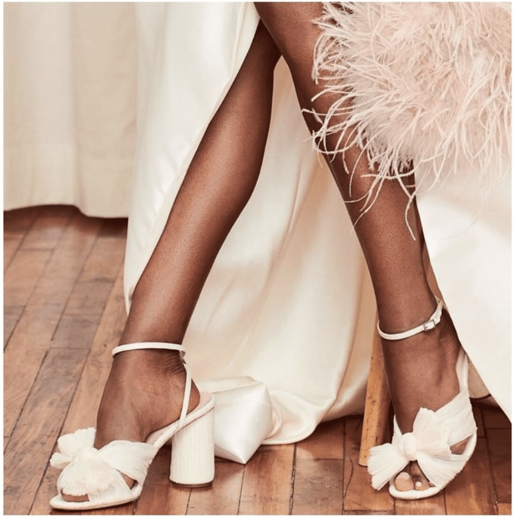 wedding shoes by @loefflerrandall as seen on the instagram of @willoughbyandwolf