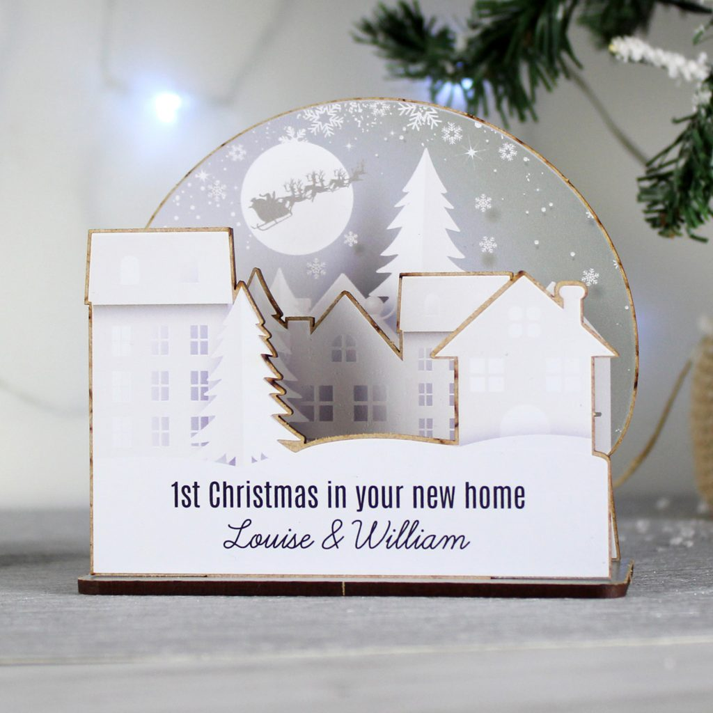 3D Personalised Make Your Own Town Decoration -This do it yourself decoration comes with easy to follow instructions on how to build this 4 piece 3D decoration. This easy to build craft decoration comes already personalised all you need to do is build it!