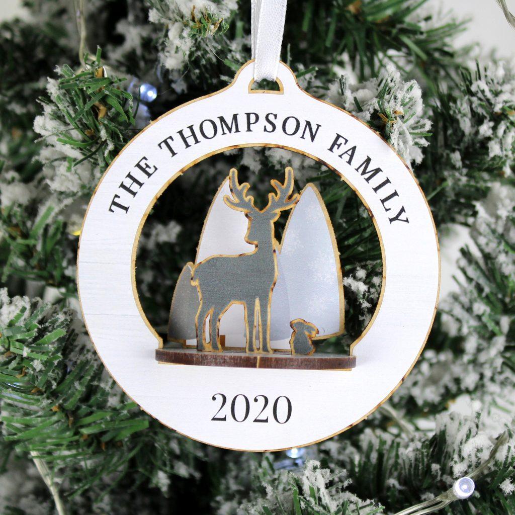 Reindeer Christmas Tree Decoration- 3D DIY Christmas Decoration