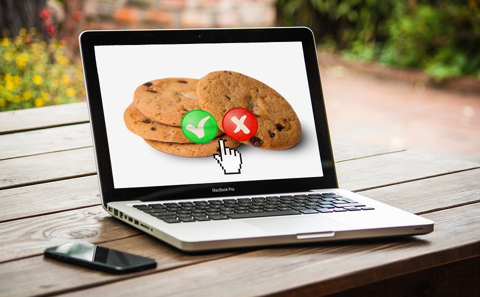 Cookie Policy- cookies on a laptop screen