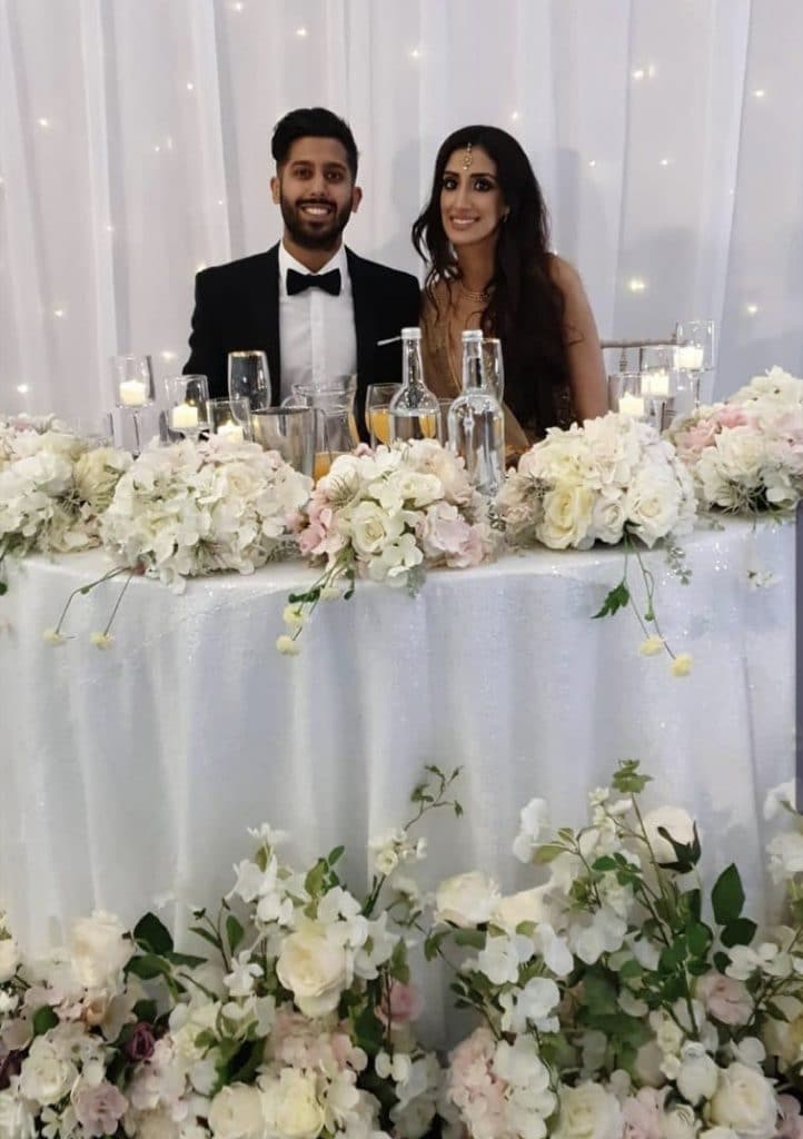 A sweetheart table allows the couple to enjoy their celebrations while having that all important moment of togetherness.
