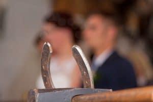 Something old, something new - horseshoe and bride and groom