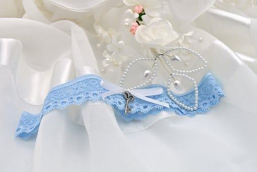 Something old, something new - blue garter, wedding ephemera