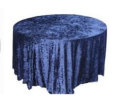 blue-crushed-velet-table-cloth-Fabulous-Functions-UK-London-Swindon-UK
